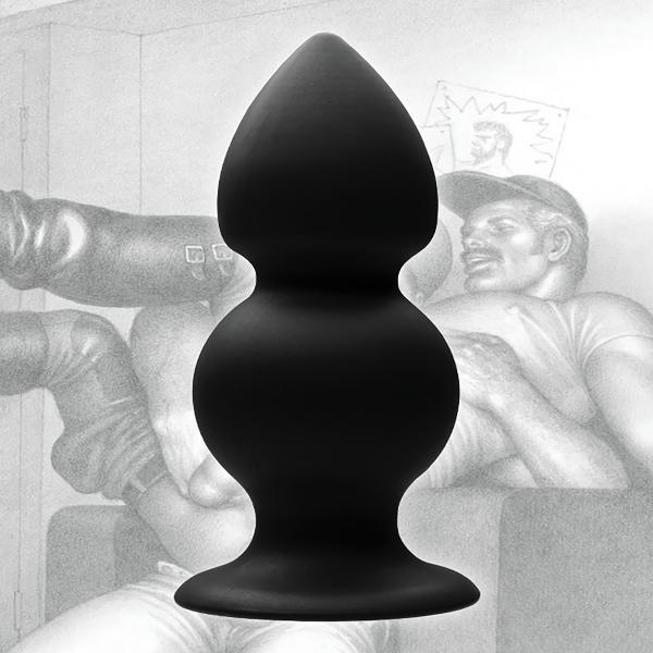 Tom Of Finland Weighted Silicone Anal Plug Black