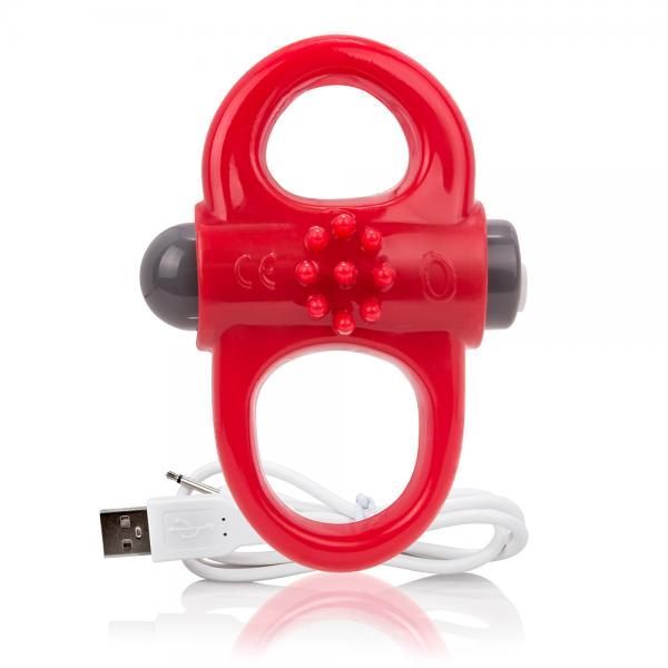 Screaming O Charged Yoga Vibrating Ring Red
