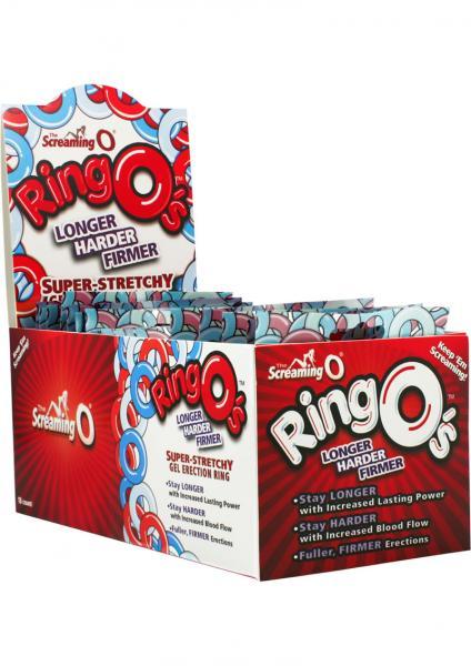 Ringos Silicone Cock Rings Waterproof 18 Per Display Assorted Colors