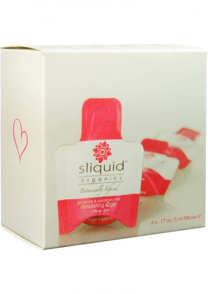 Sliquid Organics Stimulating O Gel Sampler 6 Pack