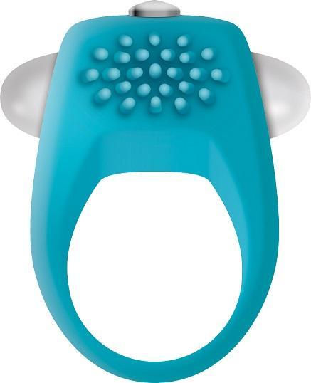The Teal Tickler Vibrating Cock Ring