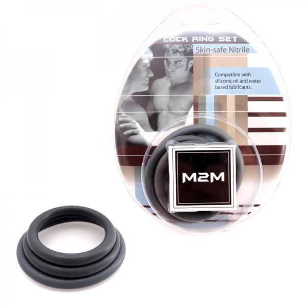 M2M Nitrile C-Ring Pack of 3 Gray