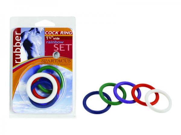 Rainbow Rubber C Ring 5 Pack - 1.25 Inch