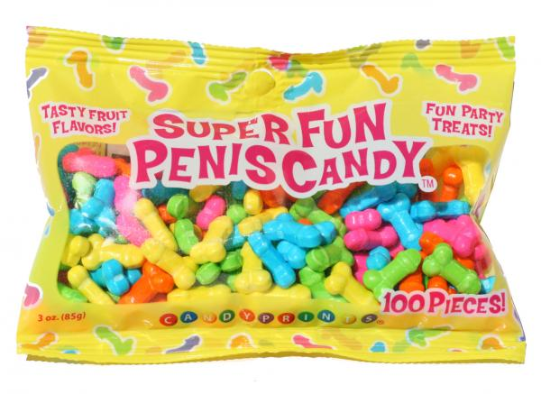 Super Fun Penis Candy 100 Pieces Fruit Flavors 3oz