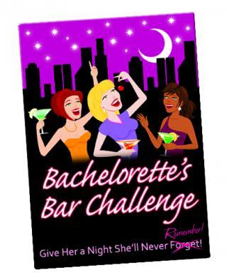 Bachelorette's bar challenge card game