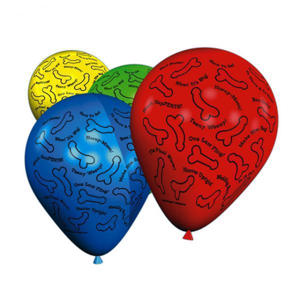 Bachelorette risque balloons - 8 per pack