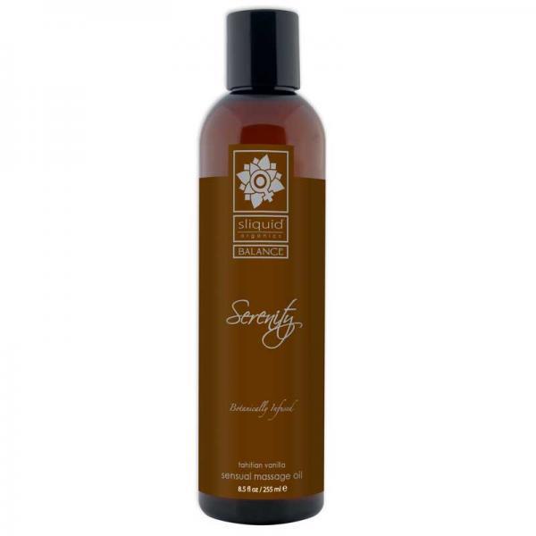 Sliquid Organics Serenity Massage Oil 4.2 oz- Tahitian Vanilla