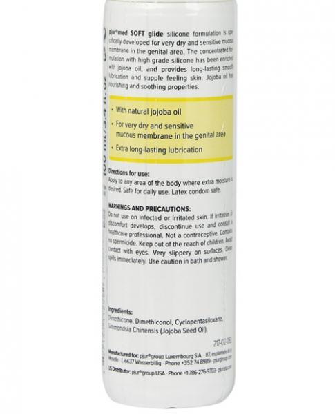 Pjur Med Soft Glide Silicone Lubricant 3.4oz Bottle