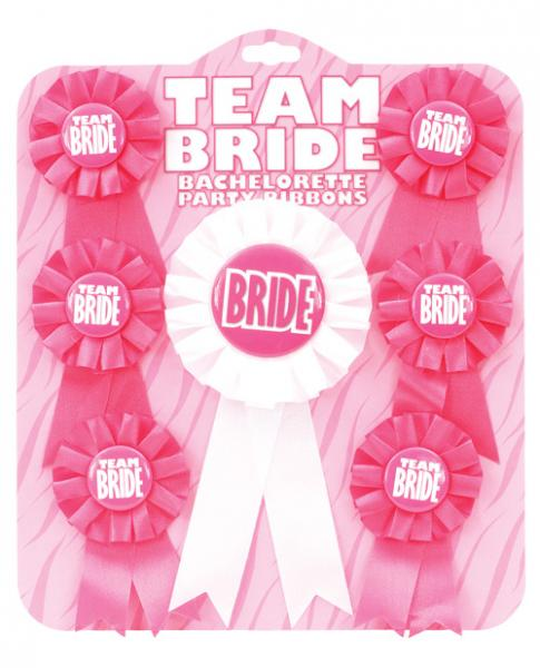 Team Bride Ribbons Pack of 7