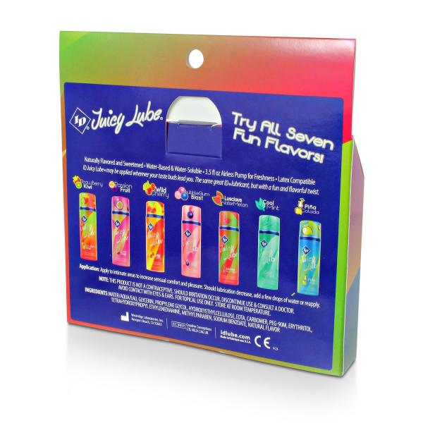 ID Juicy Lube Assorted Flavored Personal Lubricant 5 Pack Tubes