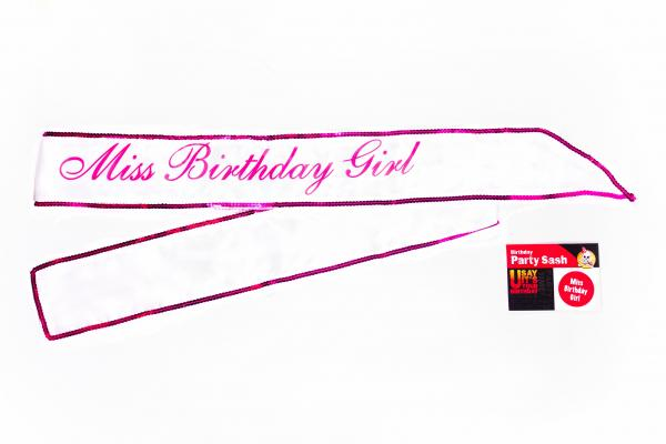 Miss birthday girl sash