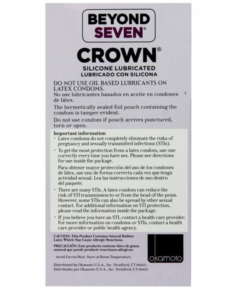 Crown Super Thin Sensitive Latex Condoms Box of 12