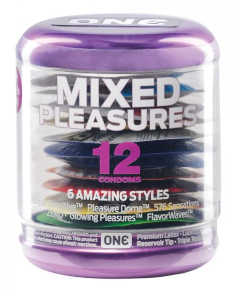 One next generation 12 pack condoms mixed pleasures