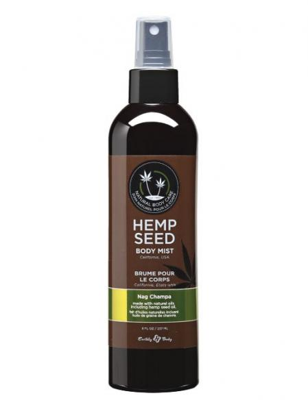 Hemp seed moisturizing body mist- 8 oz nag champa