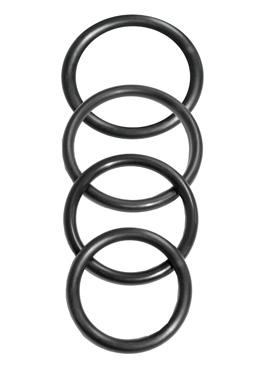 Sedeux ORings Rubber 4 Pack - Black