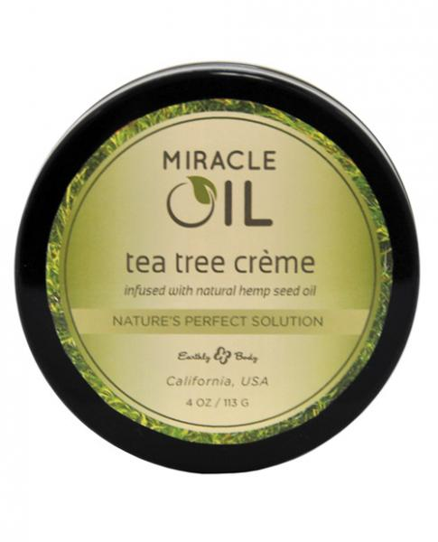 Earthly Body Miracle Oil Creme Tea Tree 4oz