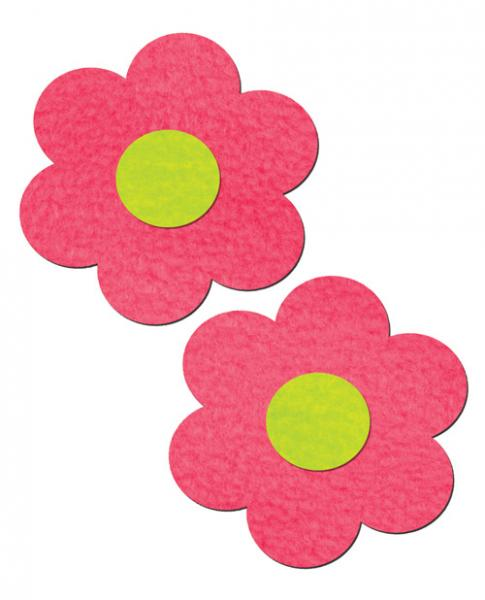 Pastease Daisy Neon Pink & Yellow Pasties O/S
