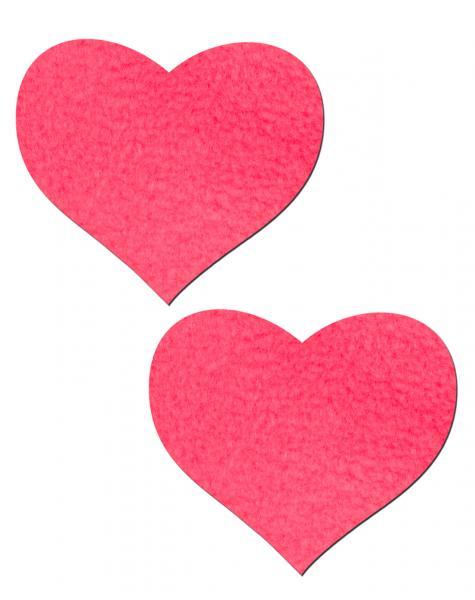 Heart Neon Pink Pasties O/S