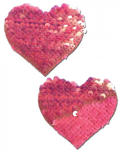 Pastease Color Changing Flip Sequins Heart Pink O/S