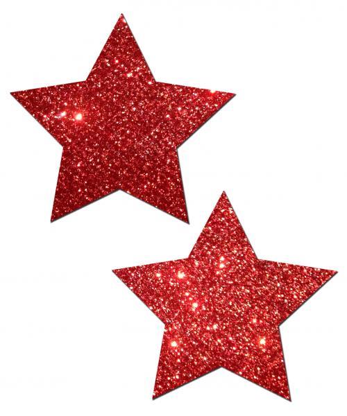 Rockstar Red Glitter Pasties O/S
