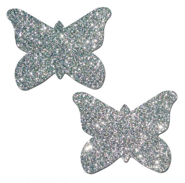 Pastease Silver Glitter Butterfly O/S