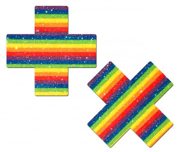 Pastease Glitter Rainbow Plus Pasties