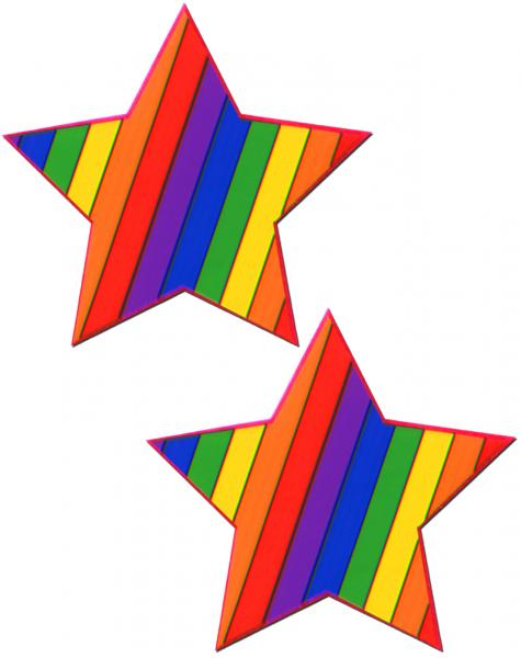 Rainbow Rockstar Pasties O/S