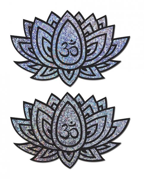 Pastease Ohm Lotus Silver Pasties O/S