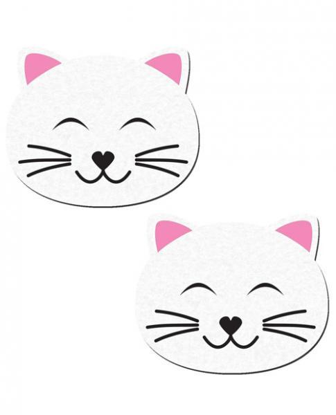 Kitty Cat White Cat Pasties O/S