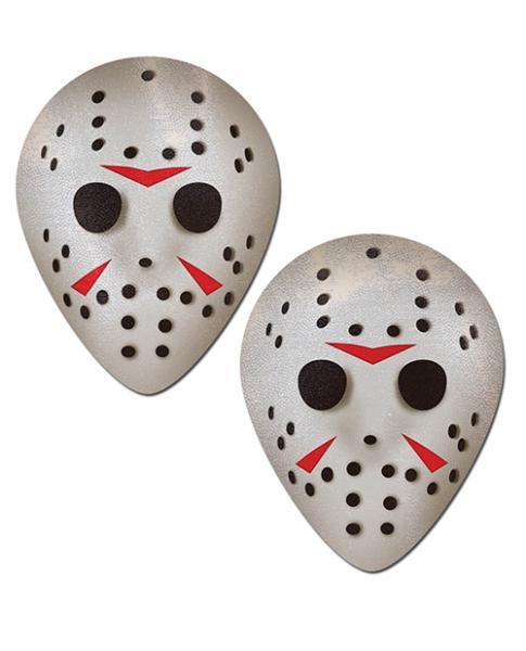 Pastease Scary Halloween Hockey Mask  White O/S