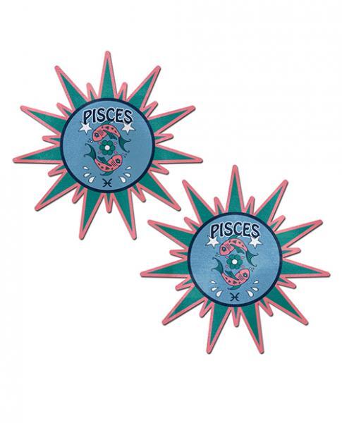 Pastease Astrology Sunburst Pisces Teal Pink O/S