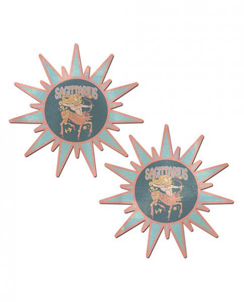 Pastease Astrology Sunburst Sagittarius Teal Coral  O/S