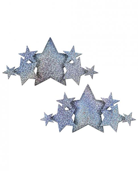 Pastease Demi Glitter Stars Silver Pasties O/S