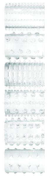 Super Stretch Tickler Sleeves 7 Per Set Clear