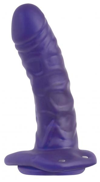 Universal Hollow Strap On Purple Dildo