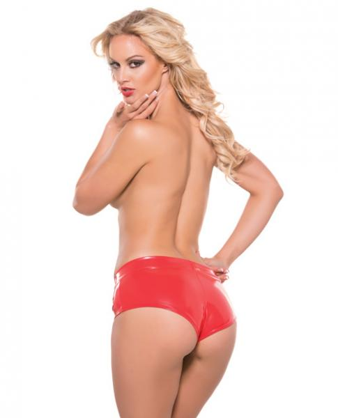 Second Skin Hot Short Shorts Red S/M