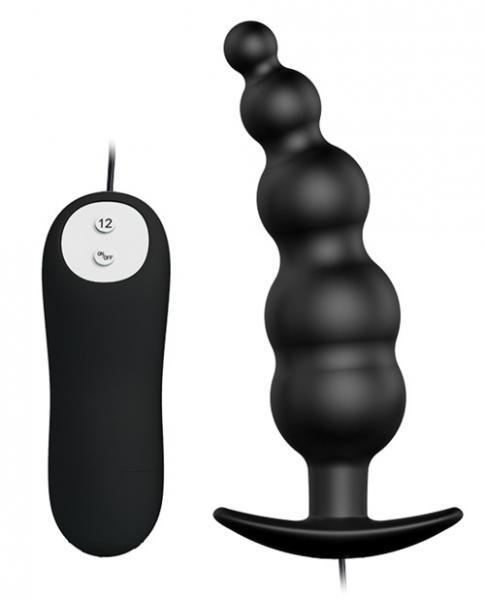 Pretty Love Vibrating Bead Butt Plug Black