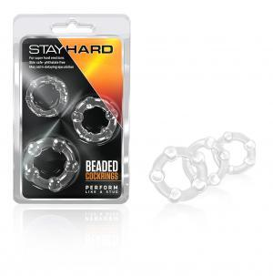 Beaded C Rings 3Pc - Clear