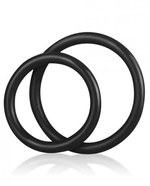 C & B Gear Silicone Cock Ring Set Black