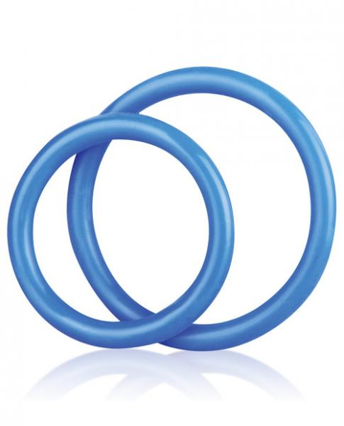 C & B Gear Silicone Cock Ring Set Blue