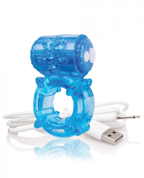 Screaming O Charged Big O Vibrating Cock Ring Blue
