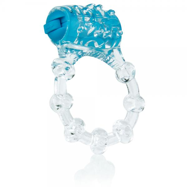 Color Pop Quickie Vibrating Ring Blue
