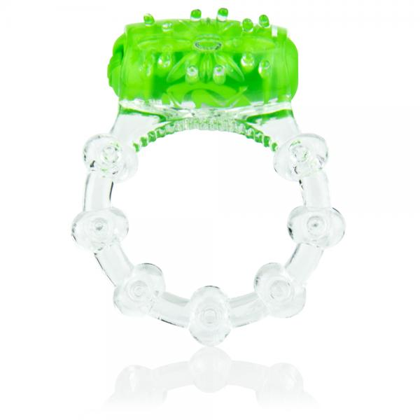 Color Pop Quickie Screaming O Green Vibrating Ring