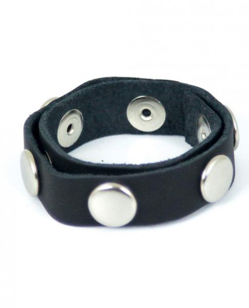 Spartacus Six Speed Cock Ring Black Leather