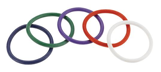 Rainbow Rubber C Ring 5 Pack - 2 inch