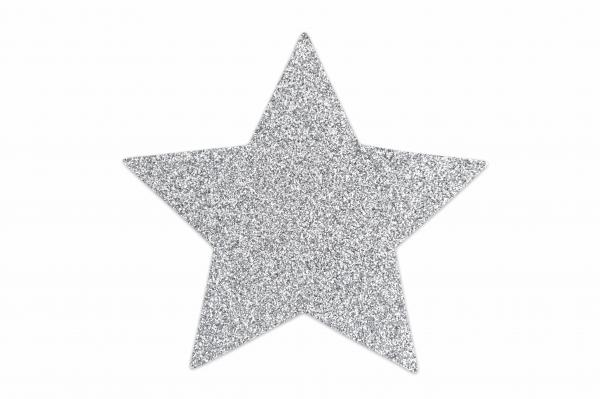 Flash Star Pasties Silver