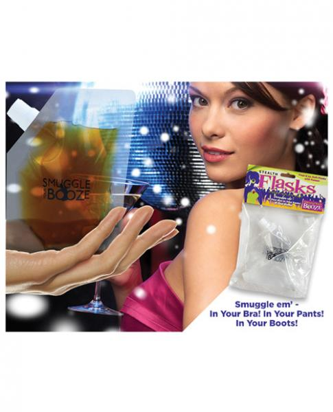 Smuggle Your Booze Soft Flasks & Funnel 4 Set 4oz