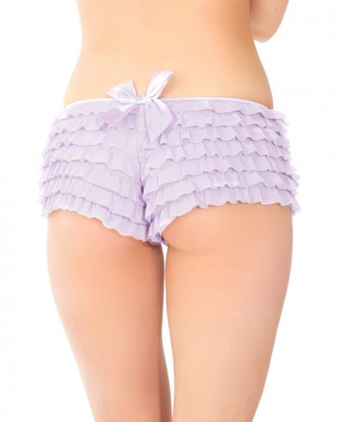 Ruffle Shorts Back Bow Detail Lilac O/S
