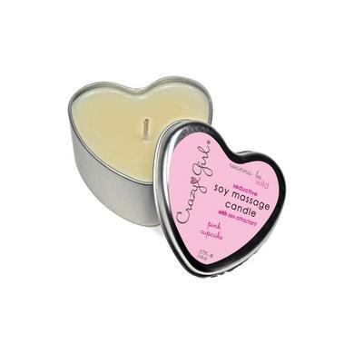 Crazy girl soy massage heart candle 4.7 oz - cupcake