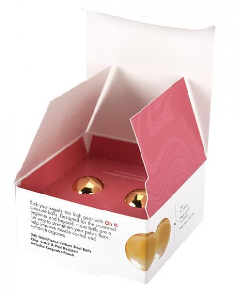 CG Oh K 24K Gold Plated Pleasure Balls Set